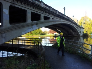 Reading Bridge before repair and strengthening works starts.